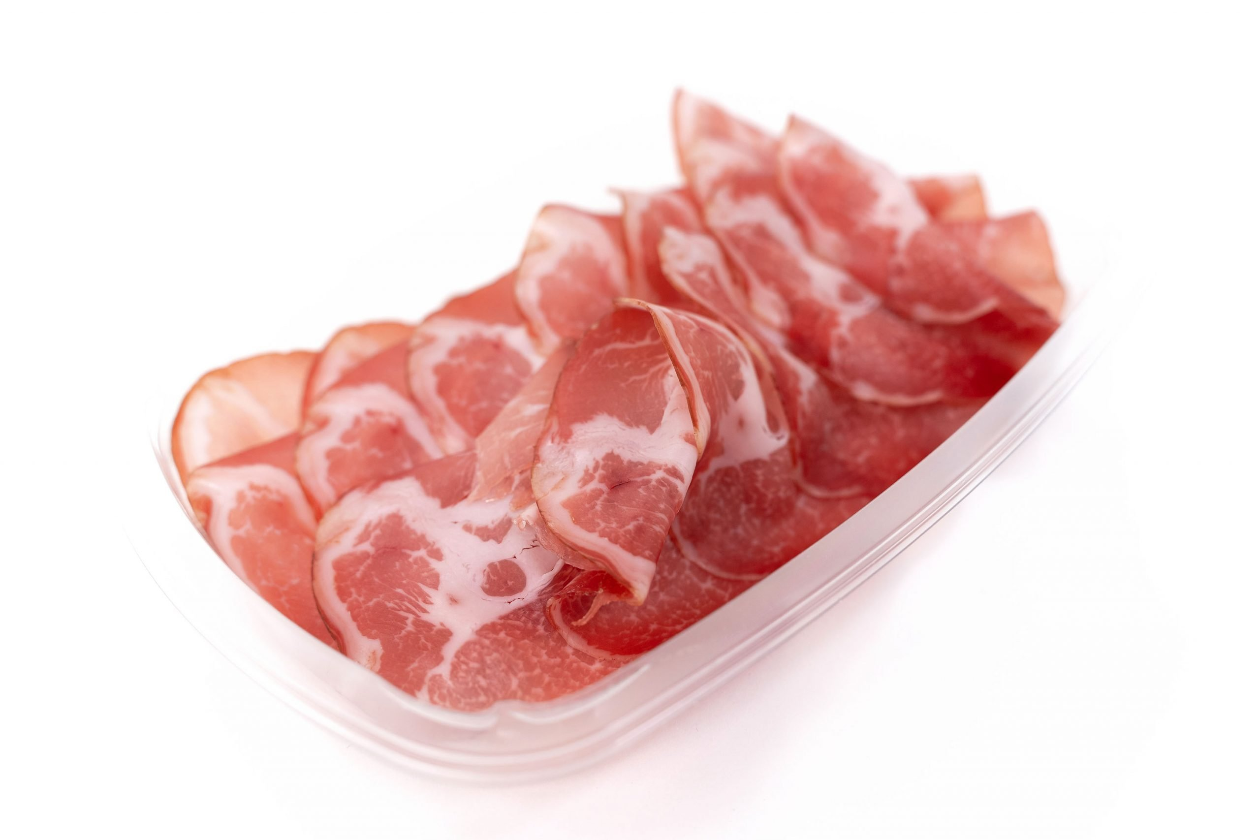 Coppa in preformed platter