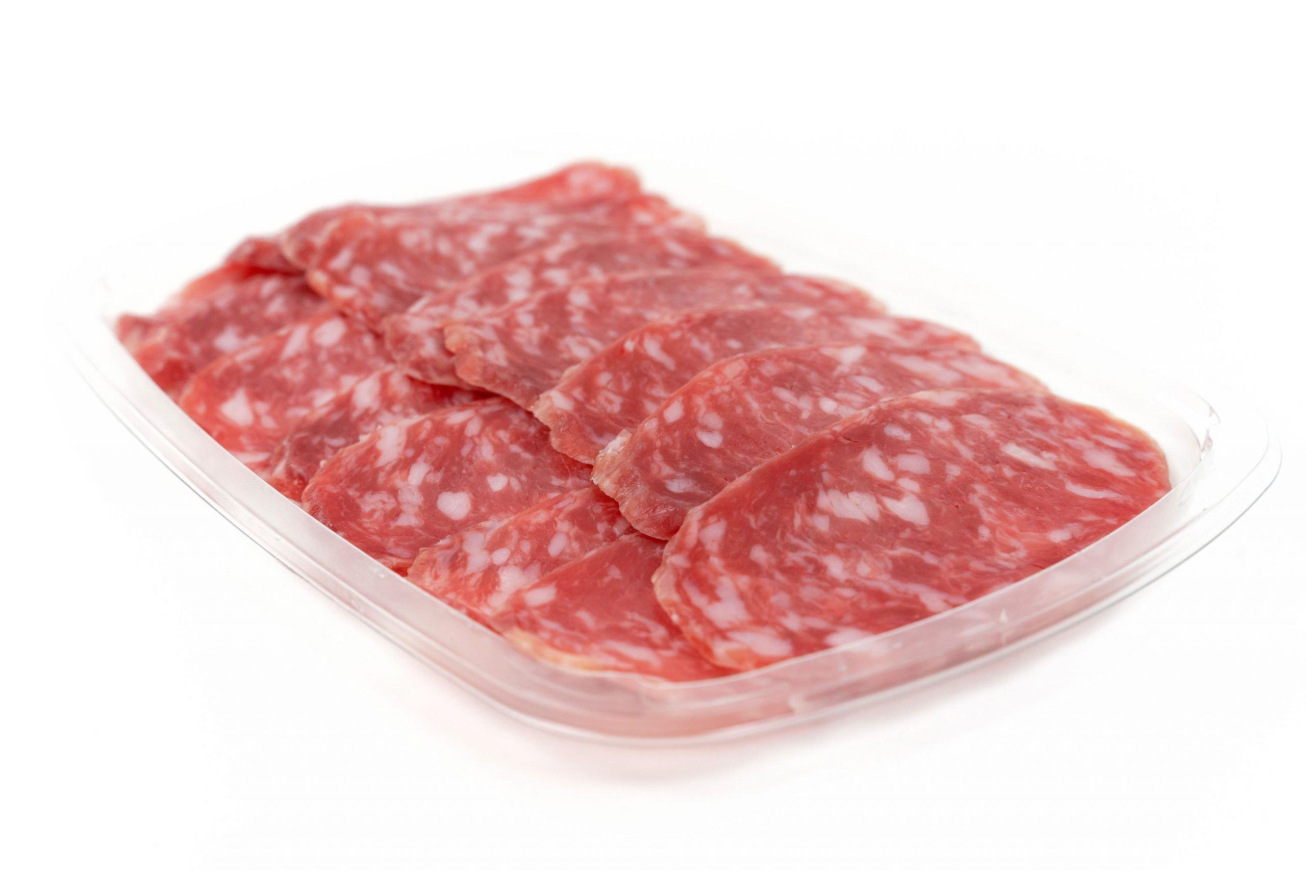 Salame Felino in low preformed platter